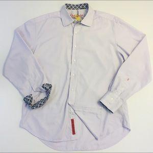 Robert Graham Mens XL Lavender Dress Shirt